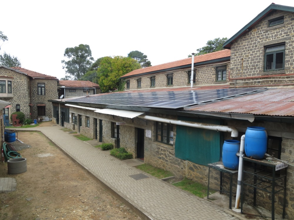 New 20 kw system on Maintenance row; in photo, Kennedy windows are above, and Boyer to the left