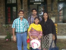 Riyazur Rahman '83 with his family