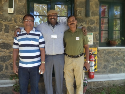 Shivaram Selvakkumar '77 (middle) with friends