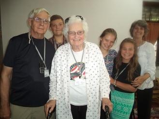 Eunice Naumann Nissen '51, Walter Naumann '63 and family