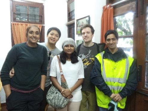 Mercy Lamech ' 05 and Arjun Kolhatkar '06 with friends