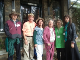 SaraAnn Lockwood '61 and Marian Korteling Levai '42 with family and friends